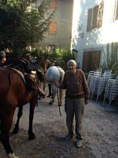 papa y caballo